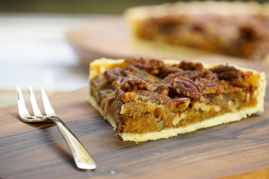 tarte aux noix de p can sp cial thanksgiving. Black Bedroom Furniture Sets. Home Design Ideas