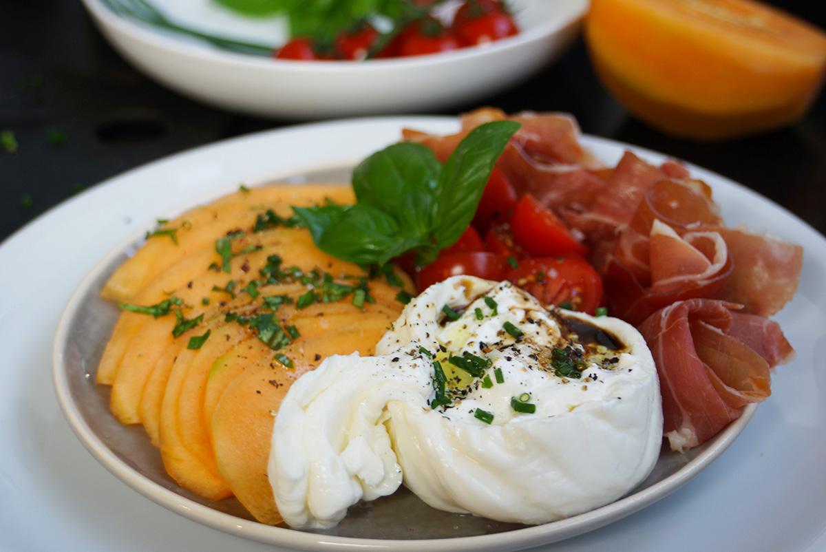 Recette entr e melon jambon facile et savoureuse for Entree facile ete