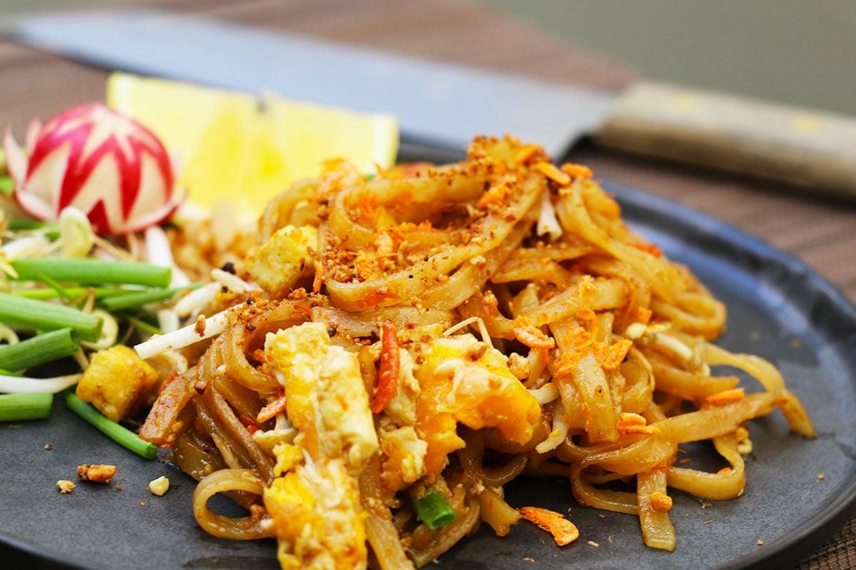Pad Thaï ou nouilles sautées à la thaïlandaise