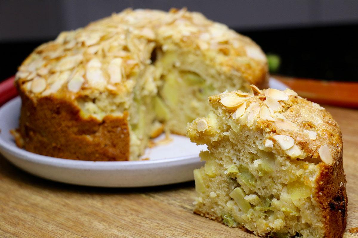 Cake Moelleux Rhubarbe