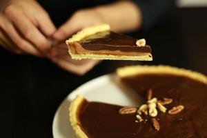 recette facile de la tarte au chocolat et caramel au beurre sal 233